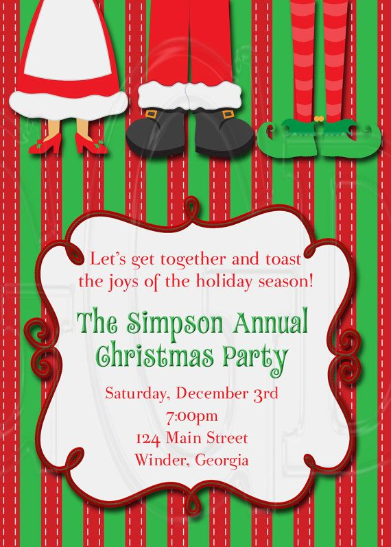 38 best Holiday Party Invites images on Pinterest Christmas - invitation for a get together