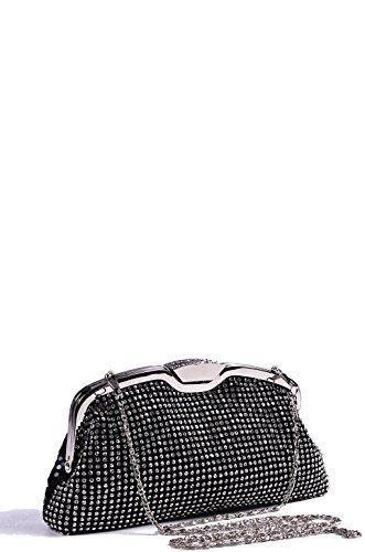 Oferta: 21.11€. Comprar Ofertas de FFOMO Diamante negro bolsa de embrague One Size Black barato. ¡Mira las ofertas!