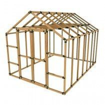 Greenhouse Kits -  I came across this website the other day when I was looking at some greenhouse design ideas and I thought it looked like a great way to put up an inexpensive and quick greenhouse or it could even be used to build a coop or shed. Anyway the website is http://www.ezframeup.com/ and they have several kits for different size greenhouses. These things look super easy to put up and I can't say for sure but I bet they would make a really solid greenhouse that would hold up