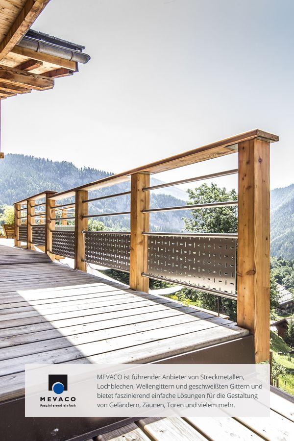 MEVACO Lochblech aus Edelstahl verschönert ein romantisches Chalet im französischen Skigebiet La Clusaz. Mehr unter http://www.mevaco.de/fascination-48 #MEVACO #Lochblech #Edelstahl #Creativ-Line-Ellipse #FaszinationNo48