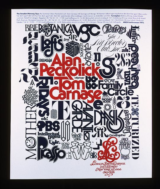 Alan Peckolick and Tom Carnase tour poster   Flickr - Photo Sharing!