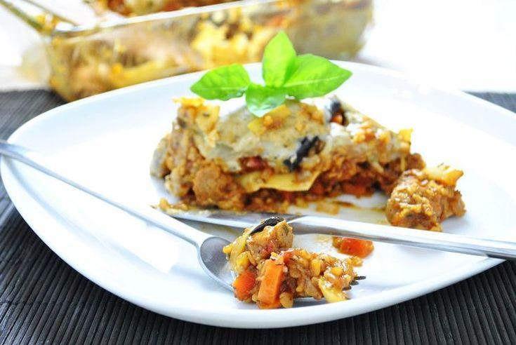 Wegańska lasagne