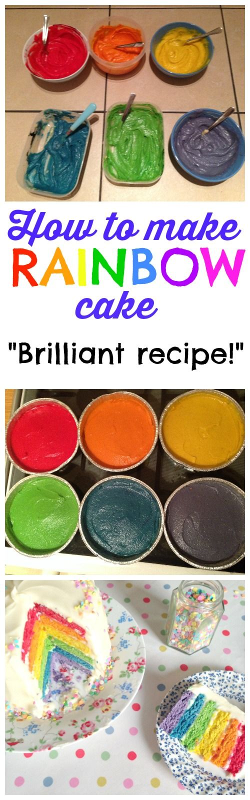 Most awesome cake ever?! A rainbow cake recipe and tutorial so SIMPLE that even kids have made it! The most fun cake for birthday parties for kids, or BIG kids too.