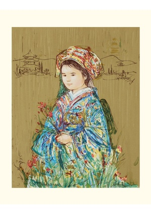 EDNA HIBEL Signed and Numbered Limited Edition ''Festival Kimono''