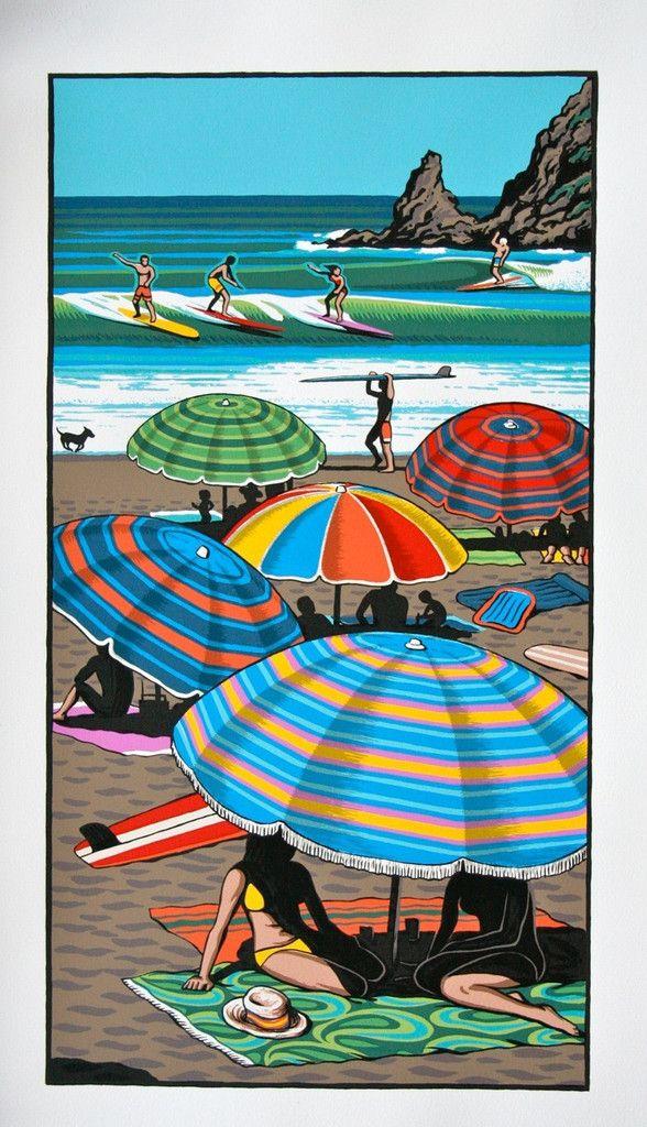 Coastal Carnival by Tony Ogle | Kina NZ Design + Artspace