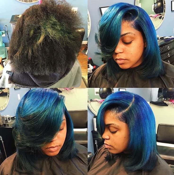 Hues of blue by @hairstylistof_la  Read the article here - http://blackhairinformation.com/hairstyle-gallery/hues-blue-hairstylistof_la/