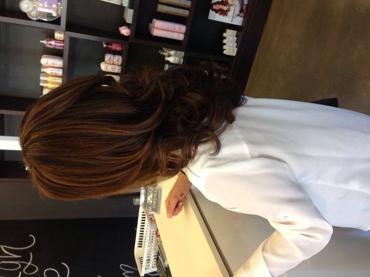 Beautiful bouncy blowdry. Sombre