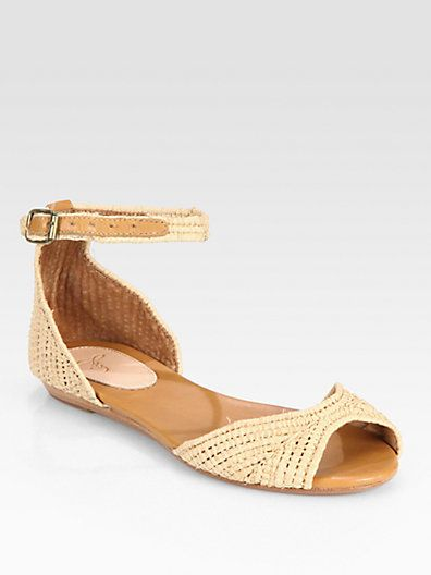 Eastwood Raffia & Leather Sandals