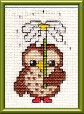 photo of cute owl cross stitch design