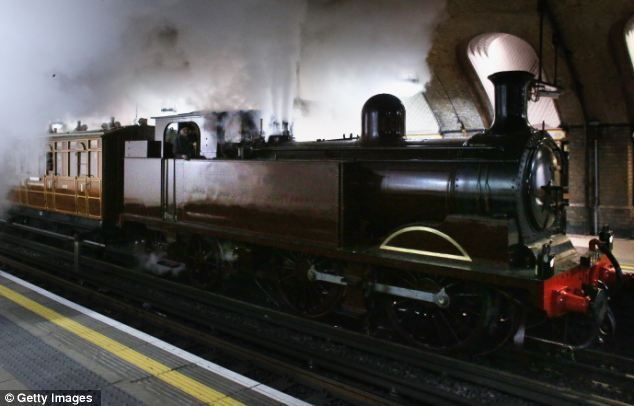 Steam on London's Underground! No 1 was the last locomotive to be built at Neasden in 1898 by the Metropolitan Railway...  From...  http://www.dailymail.co.uk/news/article-2249372/Steam-train-returns-London-Underground-time-century-mark-150-years-Tube-opened.html#