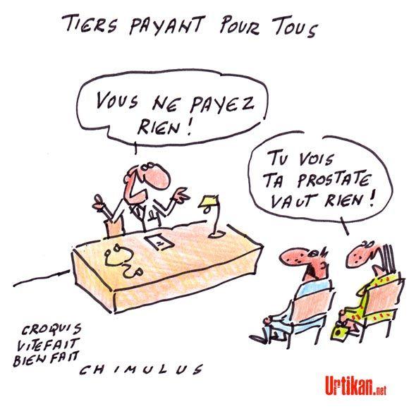 Tiers payant : demain, on soigne gratis ! - Dessin du jour - Urtikan.net