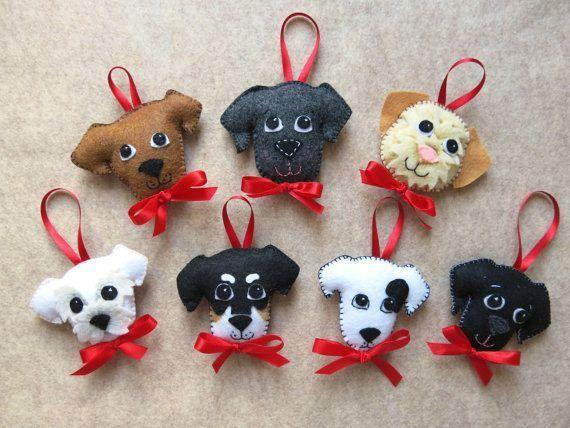 Cute felt dogs