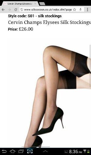 Silk stockings from silkcocoon.co.uk