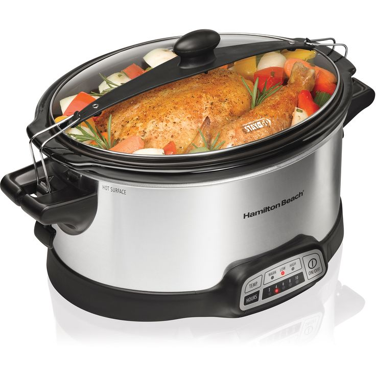 Hamilton Beach Programmable Stay or Go 6-Quart Slow Cooker with 2 Clips Image 1 of 7