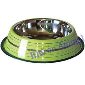 Complementos para animales - Comedero Grabado Verde 17cm - Complementos para animales