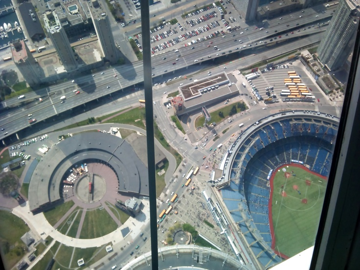 A view of Roger's centre from CN Tower, Toronto