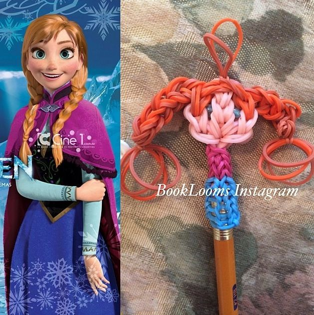 Rainbow Loom Anna Pencil Topper. Inspired by @MarloomZ Creations Creations Creations