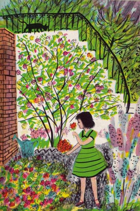 In My Garden by Charlotte Zolotow, illustrated by Roger Duvoisin. Lothrop, Lee & Shepard, 1960
