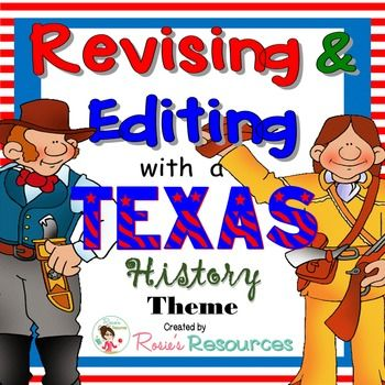 New publication for Texas teachers: 30 revising and editing passages formatted to meet the rigor of the STAAR writing test. Each covers a Texas history topic from the Social Studies TEKS. Plus, there's a free passage in the preview. How cool is that?