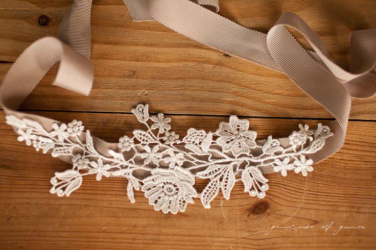 Delicate lattice headband in lace - Etsy Treasures