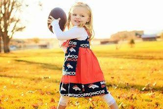 Denver Broncos Dress Saints Knot Dress by TheLittleJoyShop on Etsy, $43.99