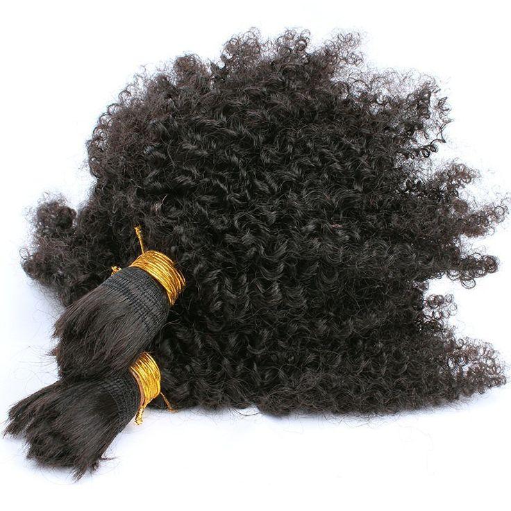 Human Braiding Hair Bulk Mongolian Virgin Hair Afro Kinky Curly Bulk Hair 3Pcs Human Hair Sunny Queen Hair Products