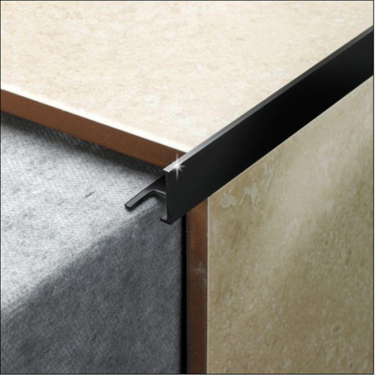 Pack Of 5 10mm Black Ultrashine Tile Trim L Shaped
