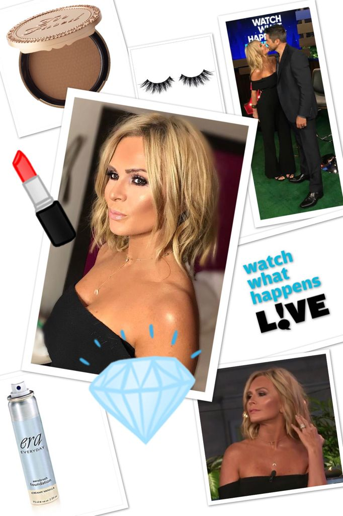 Tamra Judge's Makeup on #WWHL and Coupon Code http://www.bigblondehair.com/watch-what-happens-live/tamra-judges-makeup-watch-happens-live/ Real Housewives of Orange County, Rincon Costmetics, Era Foundation, Too Faced Cosmetics