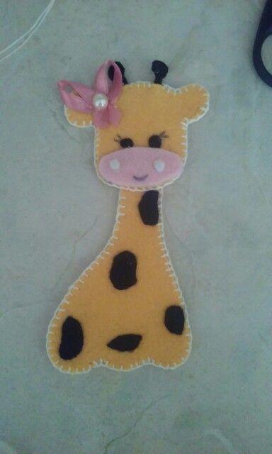 Giraffa in feltro