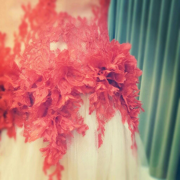 Sneak peek on Alicia's tea ceremony dress for her wedding today.. <3