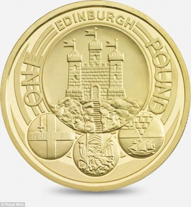 2011 Edinburgh design £1 coin