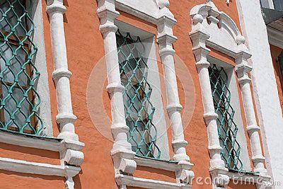Античное Windows от грилей ковки чугуна восемнадцатого века