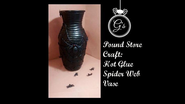 (£1) Pond Store Craft: Hot Glue Vase DIY.Tutorial