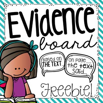 I absolutely love this new addition to my classroom this year.  I was looking to create a bulletin board that would be used regularly in my classroom.  I love these sentence stems for helping students accurately cite evidence from the text.  I would love for you to check out pictures of my Evidence Board!