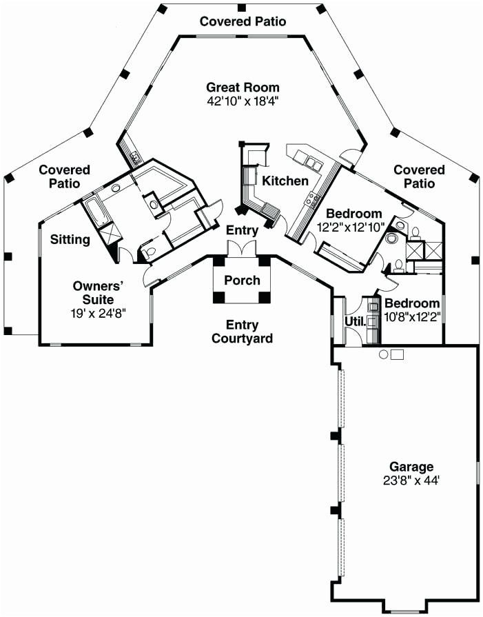 The Octagon 1371 3 Bedrooms And 2 Baths The House Designers Octagon House Dream House Plans Hexagon House