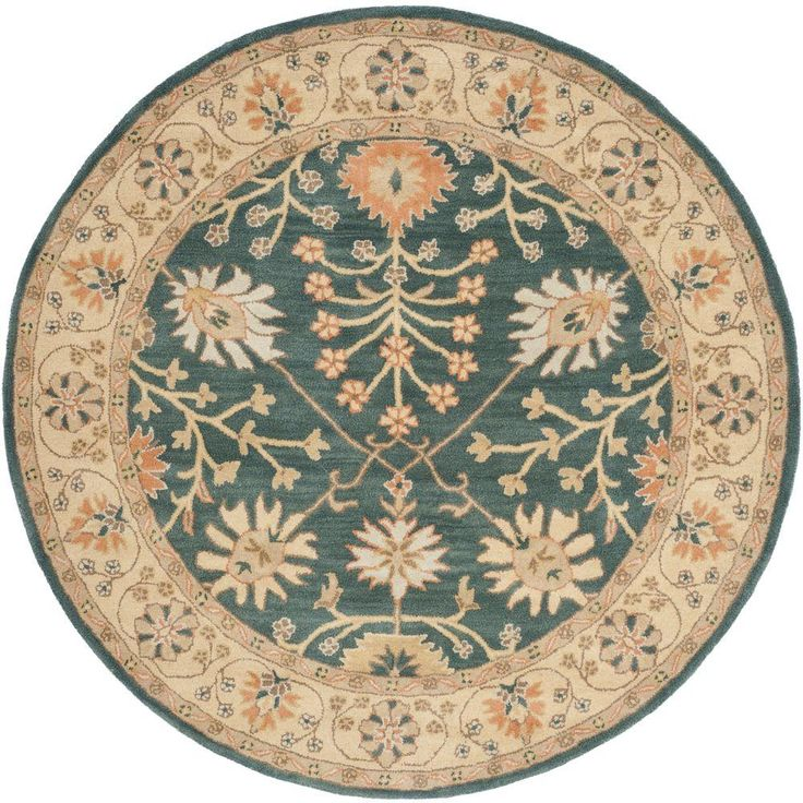 Safavieh Classic Blue/Light Gold 6 ft. Round Area Rug-CL936A-6R - The Home Depot