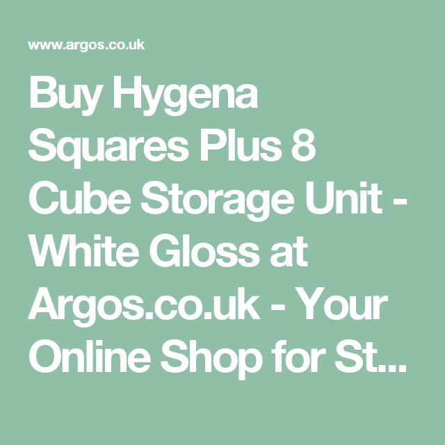 Buy Hygena Squares Plus 8 Cube Storage Unit - White Gloss at Argos.co.uk - Your Online Shop for Storage units, Storage, Home and garden.