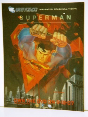 Superman Doomsday Lenticular Poster with Superman & Seal PLUS Animation Magazine Comic Con 2007 Edit @ niftywarehouse.com #NiftyWarehouse #Superman #DC #Comics #ComicBooks