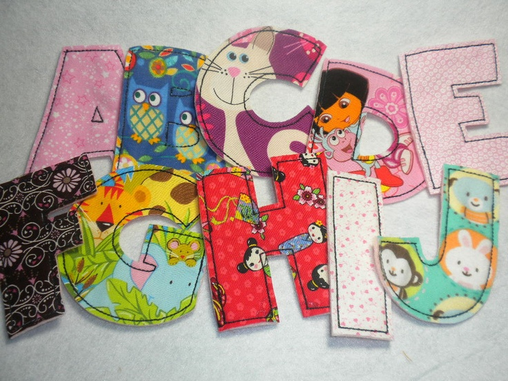 complete set of fabric alphabet letters for a girl by sosewlovely 2500 es first