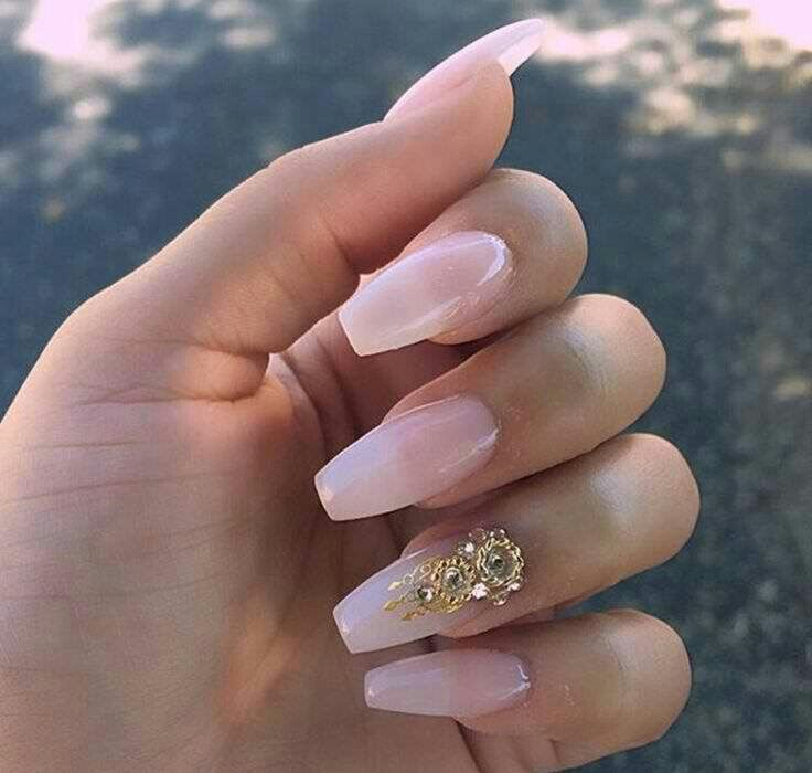 Simple Nail Designs Coffin Nails