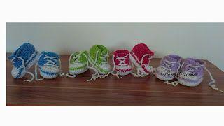 Háčkované topánočky a iné vecičky: Háčkované tenisky