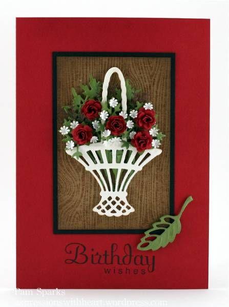 Marianne Design Basket of roses by stampit74 - Cards and Paper Crafts at Splitcoaststampers