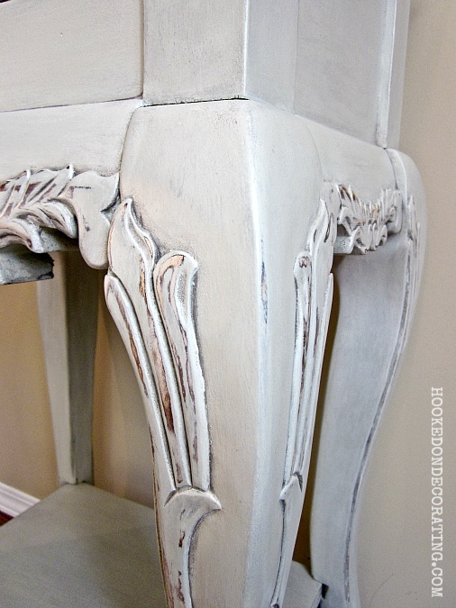 Homemade Chalk Paint Recipe:  1) Mix together 1/4 cup of baking soda and 2 tablespoons of water until it has a smooth consistency.  2) Add mixture to approximately 1 cup of eggshell latex paint. Stir well. Add water as needed if the paint becomes too thick.