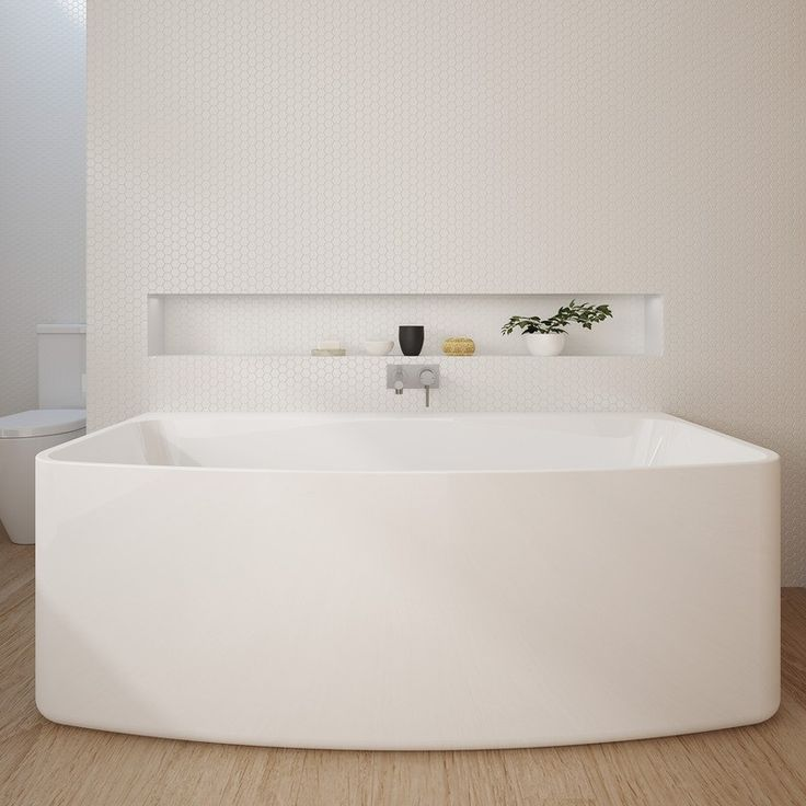 Caroma Urbane 1675 Back To Wall Bath - Freestanding Baths - Baths - Bathware Direct