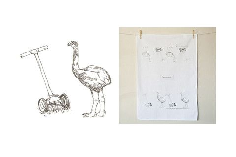 Marmalade Tea Towel - Moa Mower