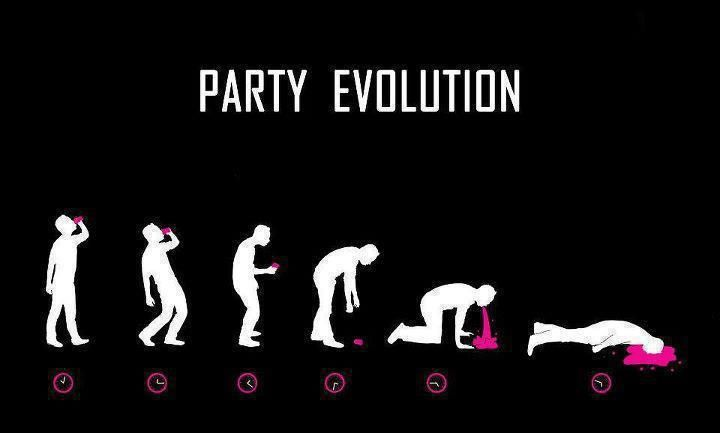 Evolution: Party'S, Parties Hard, Funny Shit, Funny Qoutes, Parties Evolution, Quote, Funny Stuff, Humor, Evolution 2012