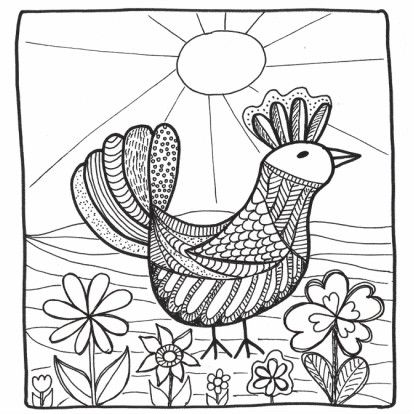 Deze Vogel Kleurkaart Is Leuk Om In Te Kleuren Voor Zowel Kinderen