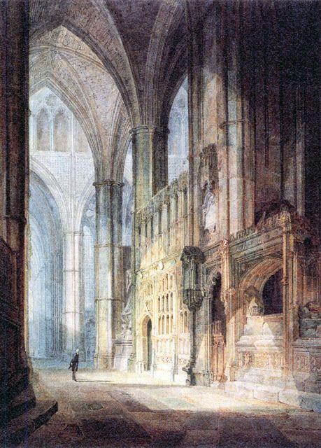 Joseph Mallord William Turner - Las capillas de San Erasmo y del Obispo Islip, abadía de Westminster, 1796.