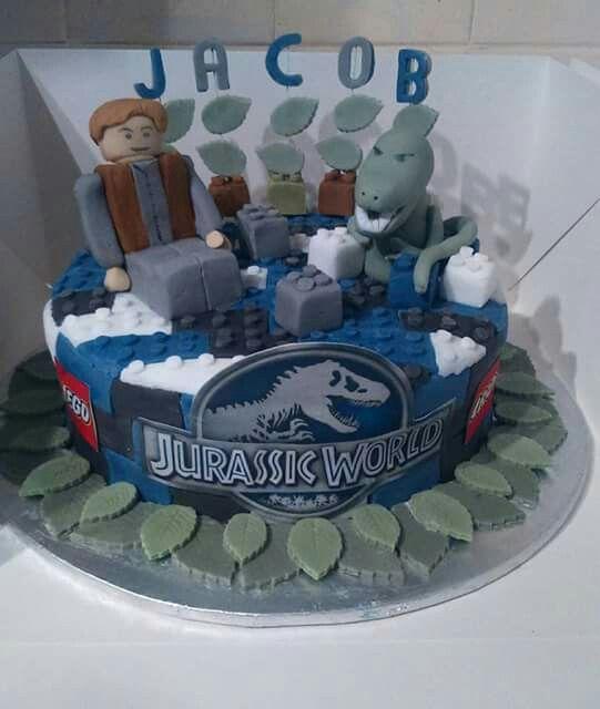 Lego Jurassic World Cake Carson S 6th Birthday