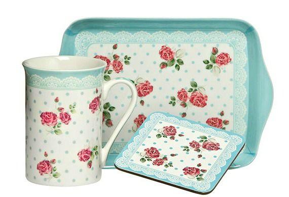 Set cadou Rose Blue by Premier Housewares. Setul este confectionat din ceramica si are un design atractiv, fiind un cadou ideal.